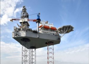 Global jackup utilization down from 78% to 55%, according to Rystad